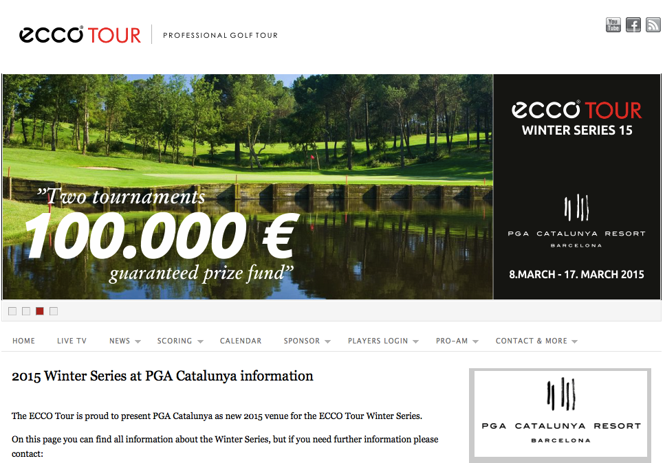 Screenshot: eccotour.org - Ecco Tour Winter Series