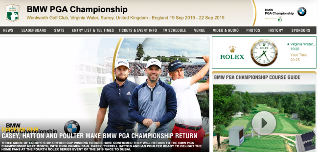 2019 Bmw Pga Championship England Et